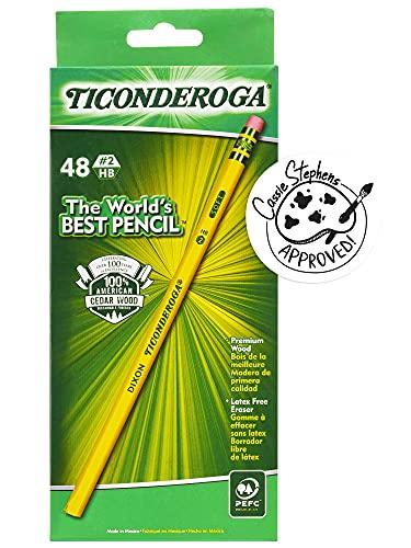 Lápices Dixon Ticonderoga en madera # 2