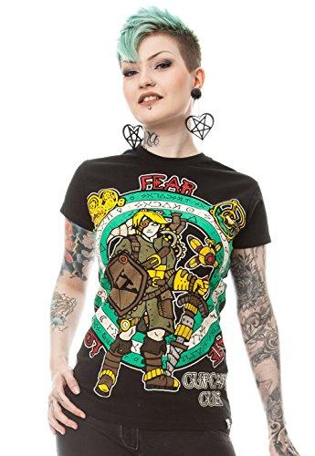 Cupcake Cult Damen T-Shirt Steampunk Legend T Schwarz S