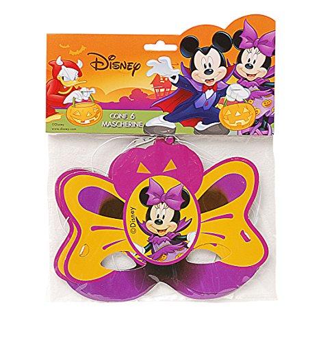 Ciao 29014.6 – verpakking van 6 maskers Halloween Disney Mickey en Minnie, oranje