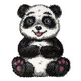 Panda Lindo Kit de Alfombra de Ganchillo, Kit de Hilo de Ganchillo, Kit de Gancho de Costura sin terminar, Alfombra de Ganchillo de Kits para Tejer con Aguja de lengüeta Kits