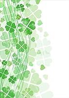 igsticker ポスター ウォールステッカー シール式ステッカー 飾り 841×1189㎜ A0 写真 フォト 壁 インテリア おしゃれ 剥がせる wall sticker poster 005490 フラワー 四つ葉 クローバー