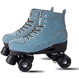 Casual Skating Schuhe vierrädrigen Skates Schuhe Erwachsene zweireihig Vierrad-Roller Skates Roller Skates geeignet Erwachsene Kinder Sport im Freien,45