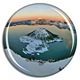 Crater Lake National Park Oregon USA Fridge Magnets Travel Souvenir Funny Collection Strong Magnetism Home Decoration Office Whiteboard