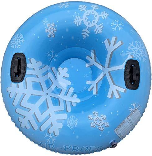 Tubo de Nieve para Trineo, Trineo Inflable al Aire Libre de 47 Pulgadas para niños para niños y Adultos, anticongelante de Remolque y Trineo de PVC Resistente al Desgaste, con 2 Asas, Anillo de esquí