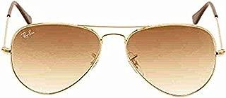 Bundle: Ray-Ban RB3025 Aviator Large Metal Gold/Crystal Brown Gradient 58mm
