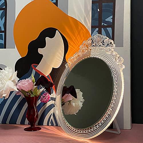 Mini Espejo Maquillaje con Luz, LED Espejo de Baño, Espejo Maquillaje con Luz Led, HD Color 3000K / 4000K / 6000K, CRI 92