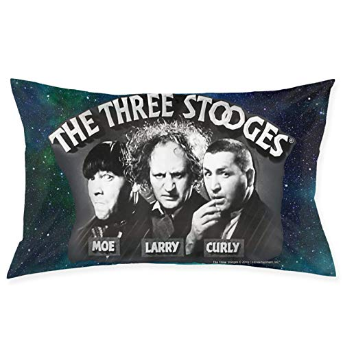 Ssxvjaioervrf The Three Stooges Throw Pillow Covers Square Plush Pillowcases Decorative Printing Soft for Living Room Sofa Chair Car Child Bed Home Modern Cushion Pillowslip 20 X 30 Inch