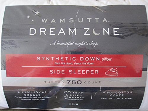Wamsutta Dream Zone Synthetic Down Pillow Side Sleeper 750-Thread Count (King)