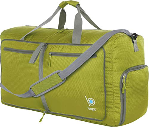 Bago 60L Duffle Bags for Men & Women - 23' Foldable Travel Duffel Weekender Bag (Green)
