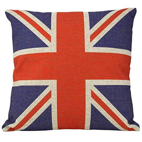 Hieefi Werfenkissenbezüge Britischer Vintage-Stil Union Jack-Flagge-wurfkissenbezug Sofa Kissen Kissenbezug Sofa-Kissenbezug