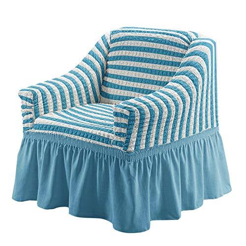 YMOMG Funda para sillón, 1 plaza, funda de sofá elástica, antideslizante, 1 pieza, funda para sillón (color 21, 2 asientos, 145 – 185 cm)