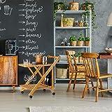 Relaxdays Küchenwagen Bambus, Servierwagen klappbar mit Flaschenhalter, Rollwagen Holz, HxBxT: 70 x 40,5 x 65 cm, natur - 4