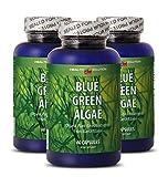Klamath Blue Green Algae Organic - Blue Green Algae - Enhance Weight Loss (3 Bottles)
