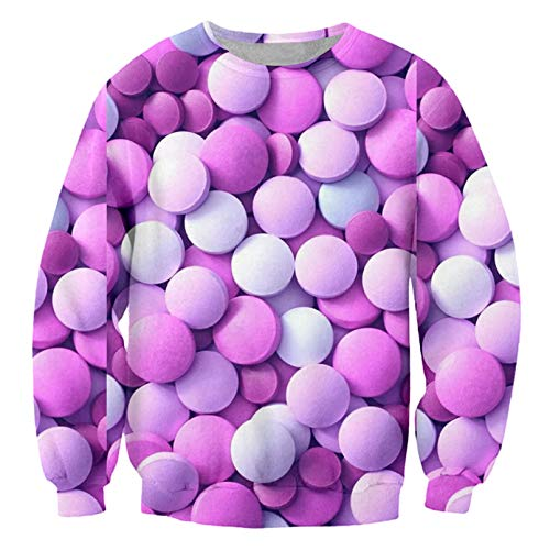 Moda Hombre Sudadera 3D Medicina AzúCar Divertido Streetwear para Hombre Jersey Entero ImpresióN De Cuerpo De Gran TamañO 5XL Sugar XL