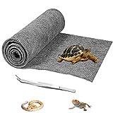 HERCOCCI Reptile Carpet, Gray - Terrarium Mat Liner Bedding Reptile Substrate Supplies for Bearded Dragon Lizard Tortoise Leopard Gecko Snake 39'' x 20''