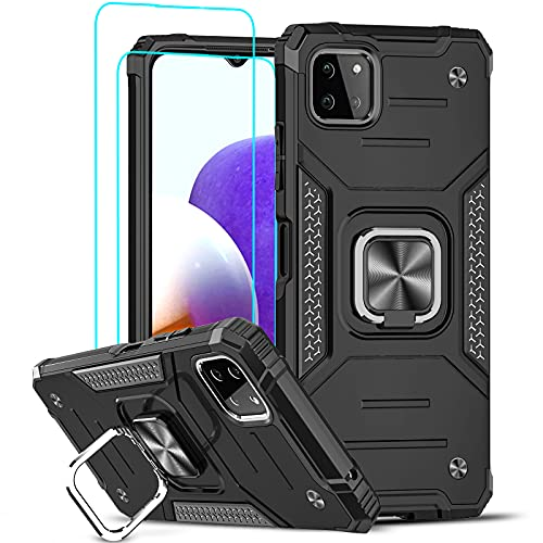 LeYi Case for Samsung Galaxy A22 5G and Tempered Glass Screen Protector [2...