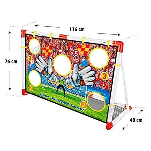 Inside Out Toys Kids Garden, Football Target Goal - 2 in 1 Football Goals, Football Net and Target Goal Nets GREAT SIZE (1.2m wide x 0.8m tall)