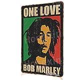 Bob Marley Poster Cartel de Metal Vintage Cartel de Chapa Placa de Pared artística Garaje Oficina en casa Bar cafetería decoración 8' w x 12' h