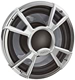 Clarion Corporation of America CMQ2512WL Marine Subwoofer with Built-in Blue LED Light 10' Silver
