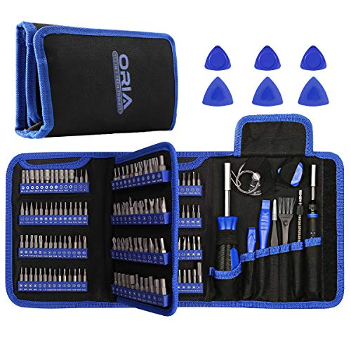 ORIA Precision Screwdriver Set (Newest) 172 in 1 with 112 bits and 44 1/4 Inch Bits Repair Tool Kit Magnetic Screwdriver Kit for Electronics Computer PC iPhone Game Console,Fathers Day Gifts