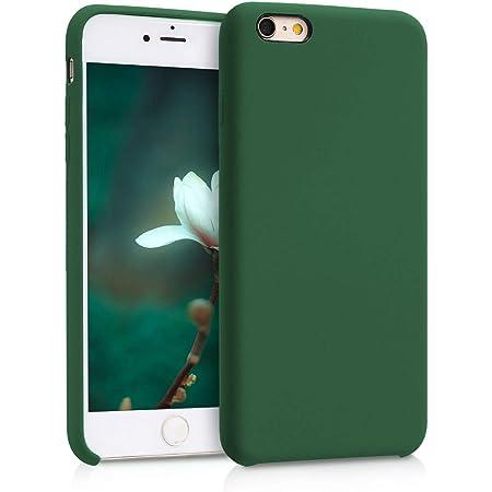 kwmobile Cover per Apple iPhone 6 Plus / 6S Plus - Custodia in Silicone TPU - Back Case Protezione Cellulare Verde Scuro