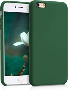 kwmobile TPU Silicone Case for Apple iPhone 6 Plus / 6S Plus - Soft Flexible Rubber Protective Cover - Dark Green