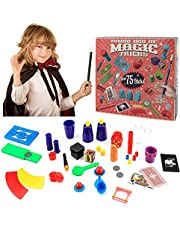 Magic Tricks Set,Magic Trick for Beginners Kit,Over 75 Tricks, Ideal For Beginners Children's Game for Age 5 6 7 8 9 10 kids and adults