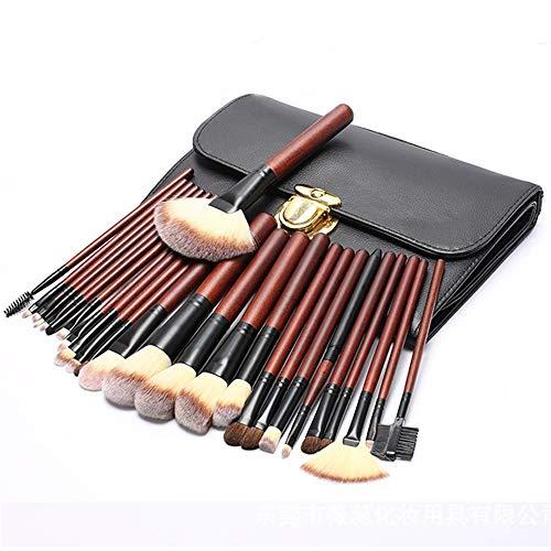 Jeu de pinceaux de maquillage, 26 pièces de qualité professionnelle, manche en bambou, pinceaux de maquillage synthétiques haut de gamme for fond de teint mélange de fard à paupières et de rouge à lèv