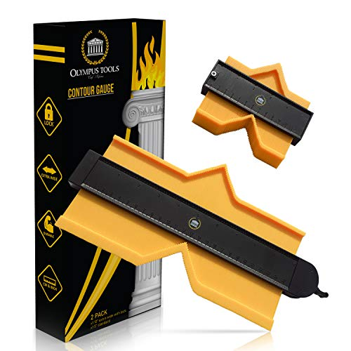 Olympus Tools Contour Gauge -10 Inch Lock Widen - Yellow Contour Profile Gauge for Handymen - Multifunctional Profile Tool – Measuring Molding Gauge – Irregular Shape Duplicator with Locking Feature