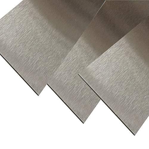 Edelstahl Blechstreifen V2A geschliffen 2 Meter lang 0,8 mm stark (30 mm)