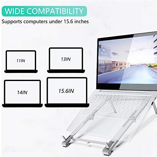Soporte para ordenador portátil, tableta para teléfono celular, portátil, 3 en 1, soporte ajustable y multi-ángulo, plegable, portátil, para escritorio, ligero, ahorro de espacio