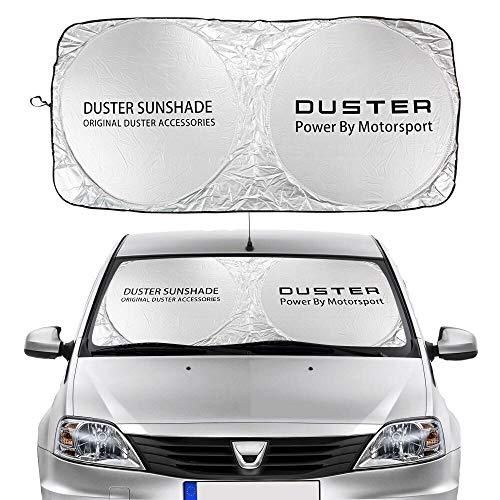 Parasol Coche Parabrisas de coches cubierta de sombra solar Compatible con Dacia Duster 4x2 4x4 1.0 TCE Turbo GPL Prestige Accessories Anti UV Reflector Visor Protector Cortina de malla para coche