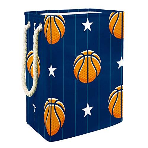 Cestas De Almacenamiento De Juguetes Patrón de estrellas de baloncesto Contenedores De Caja Para Juguetes Para Perros Juguetes Para Niños Ropa De Manta 49x30x40.5 cm