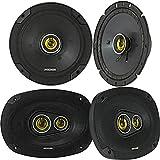2) Kicker CSC674 6.75' 600w Car Audio Speakers 2) CSC6934 6x9' 900w Speakers