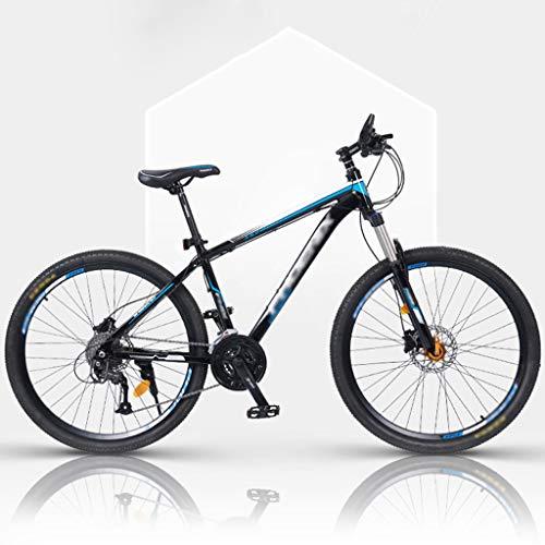 ZRN Adult Mountain Bike,26/27 Inch Wheels,Carbon Steel Mountain Bike Shimanos 27 Speed Bicycle Full Suspension MTB Gears Dual Disc Brakes Mountain Bicycle