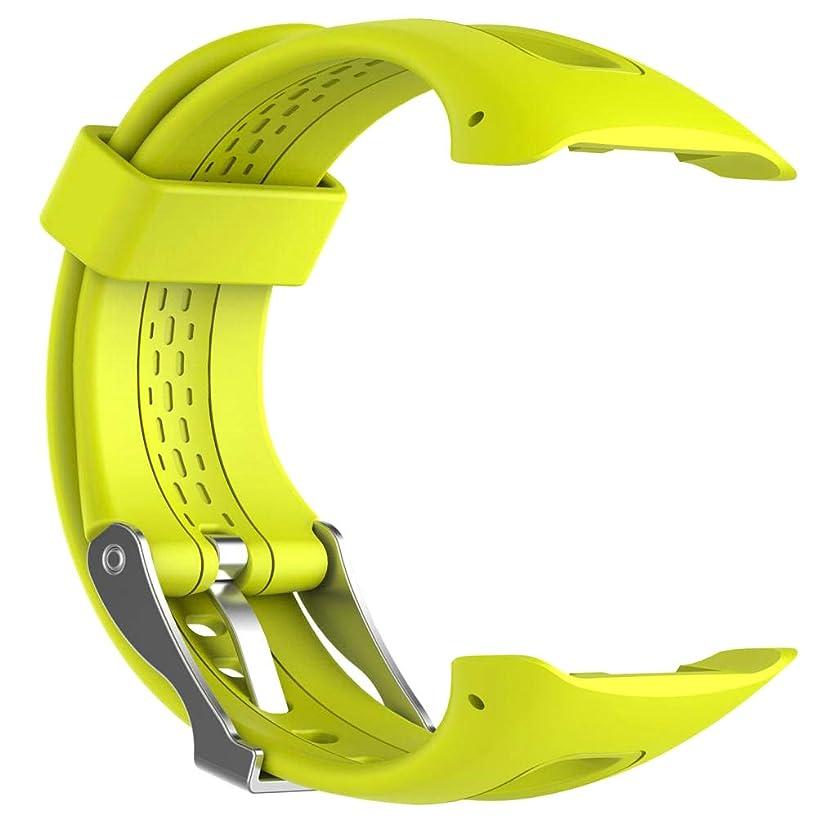 香ばしいプロット忠実にperfk 時計バンド 腕時計ストラップ クイックリリース 柔らかい 快適 互換性 Garmin Forerunner 15 Sport Watch対応 - 黄, 説明のとおり