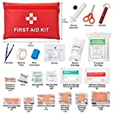 Mini Survival First Aid Kit: Indoor & Outdoor Waterproof Emergency Survival Kit 112 Piece First Aid Kit for Home Office or Car: Plus Emergency Medical Supplies for Camping Hiking Hunting