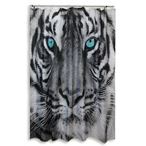 ROLLER Duschvorhang TIGER - schwarz-weiß - 180x200 cm