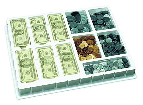 Educational Insights Play Money - Coins, Bills, Realistic Play Money, Two-sided, Ages 5-9