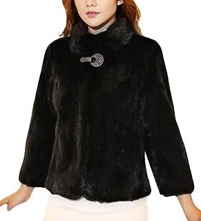 LaoZan Damska kurtka ze sztucznego futra jesienna kurtka zimowa płaszcz ze sztucznego futra ciepła odzież wierzchnia