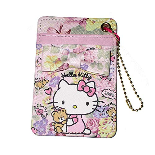 Hello Kitty Manufatto - Tarjetero, diseño de flores