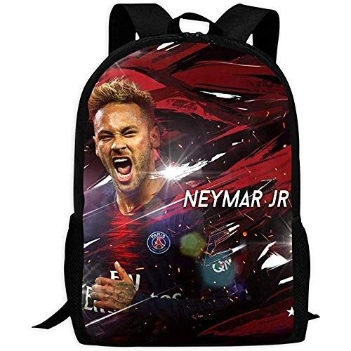 hengshiqi Rucksack Schultasche,Backpack, Durable Bag,Football Neymar Jr Backpack Fashion School Bag for Adult