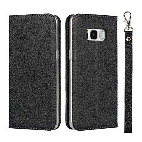 The Grafu Galaxy S8 Hülle, Stoßfest Klapphülle mit Kartenfach und Standfunktion, PU Leder Schutzhülle Tasche Kompatibel mit Samsung Galaxy S8, Schwarz
