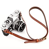 CANPIS CP006 Camera Shoulder Neck Strap Brown, Four Stage Buckled Adjustable Length for Canon Nikon Sony Fujifilm Olympus Mirrorless DSLR etc.