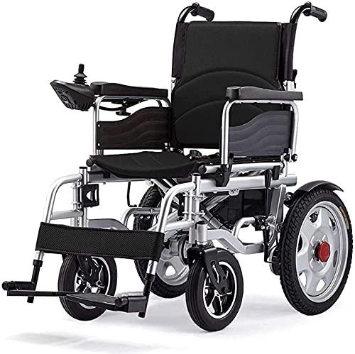 MQJ Scooter Eléctrico de Cuatro Ruedas para la Silla de Ruedas Ancianos, Plegables, Ligeras E Inteligentes para Ancianos Y Discapacitados