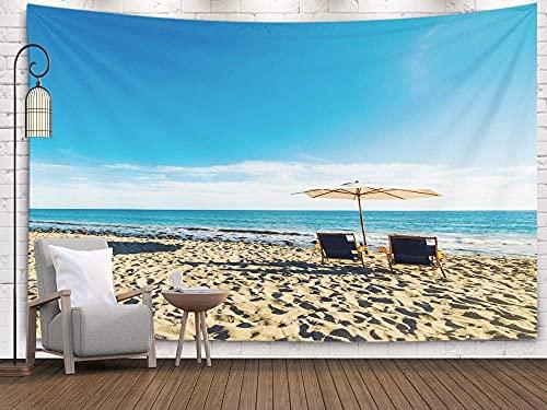 NA Playa, Tapiz para Dormitorio, Tapiz para Colgar en la Pared, tapices Deacutecor, Sala de Estar, Dormitorio para el hogar, por Printed for and Beach Chairs en Malibu California