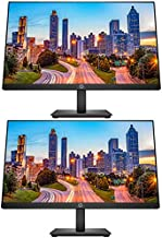 HP P224 21.5 Inch Monitor 2-Pack, FHD 1920 x 1080, LED Backlit, IPS, Vesa Compatible, Anti-Glare, Tilt (HDMI, VGA and DisplayPort) for Home and Office