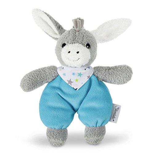 Sterntaler 3051731 Mini-Spieltier Erik, Integrierte Rassel, Alter: Für Babys ab der Geburt, 20 cm, Grau/Blau