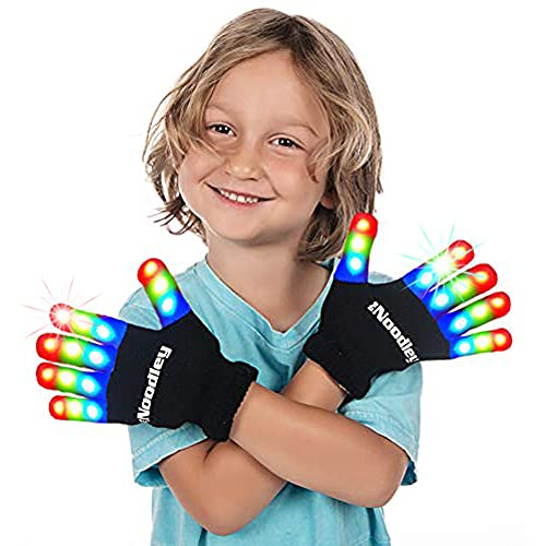 The Noodley Kids Toys for Boys LED Light Up Gloves Sensory Toy for Autistic Children Cosplay...