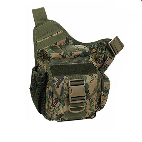 YAAGLE Tarnung satteltasches Paket Bauchtasche gürteltasche hüfttasche Umhängetasche Kameratasche Outdoor Schultertasche militärisches satteltasches Paket-Tarnung 3